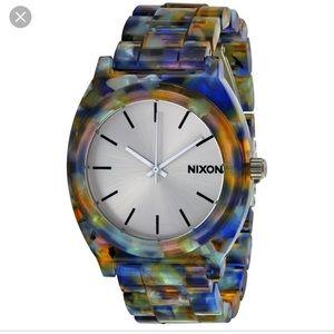 NWOT Nixon time teller acetate watch